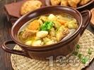 Рецепта Супа със свинско, моркови, боб и зелен фасул